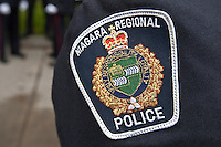 Niagara Regional Police badge is seen during a police memorial parade in Ottawa Sunday September 26, 2010.