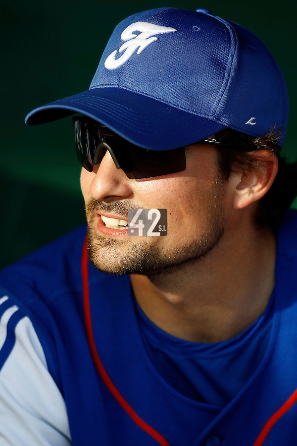21 June 2011: Florian Peyrichou of Team France is seen during Czech Republic 3-1 win over France, at the 2011 Prague Baseball Week, in Prague, Czech Republic.