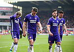 Deflated Sheffield Utd players trudge off during the championship match at the Oakwell Stadium, Barnsley. Picture date 7th April 2018. Picture credit should read: Simon Bellis/Sportimage