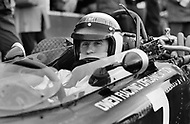 Watkins Glen, New York State, USA. 01 Oct 1967. Scottish Formula One racecar driver Jackie Stewart competes in the 1967 Watkins Glen Formula One Grand Prix.