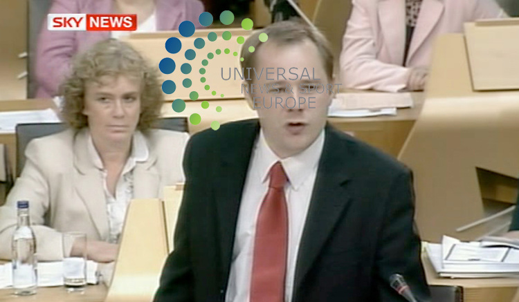 Holyrood today: Labour Justice spokesman Richard Baker condemns the Scottish Government's handling of the Lockerbie bomber case. It was wrong, arrogant and shambolic, he told MSPs. .Picture:  2 September 2009: Universal News and Sport (Scotland)/Sky.All pictures must be credited to  www.universalnewsandsport.com.(0ffice) 0844 884 51 22.