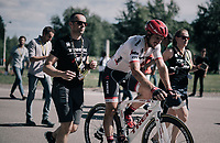 John Degenkolb (DEU/Trek-Segafredo) returning to the teambus after having crashed in the bunch sprint<br /> <br /> 104th Tour de France 2017<br /> Stage 4 - Mondorf-les-Bains &rsaquo; Vittel (203km)
