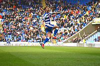 John Swift of Reading scores to make the score 1-1 and celebrates  during Reading vs Wigan Athletic, Sky Bet EFL Championship Football at the Madejski Stadium on 9th March 2019