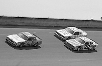 Dale Earnhardt leads Bobby Allison and Cale Yarborough Firecracker 400 at Daytona International Speedway in Daytona beach, FL on July 4m 1984.  (Photo by Brian Cleary/www.bcpix.com)