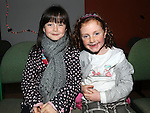 Courtney and Holly Boyle pictured at the Moneymore christmas disco. Photo: Colin Bell/pressphotos.ie