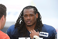 August 1, 2018: New England Patriots linebacker Dont'a Hightower (54) gives an interview at the New England Patriots training camp held on the practice fields at Gillette Stadium, in Foxborough, Massachusetts. Eric Canha/CSM
