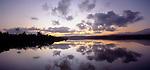 Sunrise on Okarito Lagoon. Westland. New Zealand.