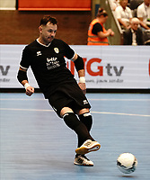 20191010 - HALLE: Halle-Gooik's GK Redivo  is pictured during the UEFA Futsal Champions League Main Round match between FP Halle-Gooik (BEL) and Kherson (UKR) on1 0th October 2019 at De Bres Sportcomplex, Halle, Belgium. PHOTO SPORTPIX | SEVIL OKTEM
