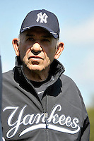 Feb 23, 2010; Tampa, FL, USA; New York Yankees  Hall of Famer Yogi Berra during  team workout at George M. Steinbrenner Field. Mandatory Credit: Tomasso De Rosa