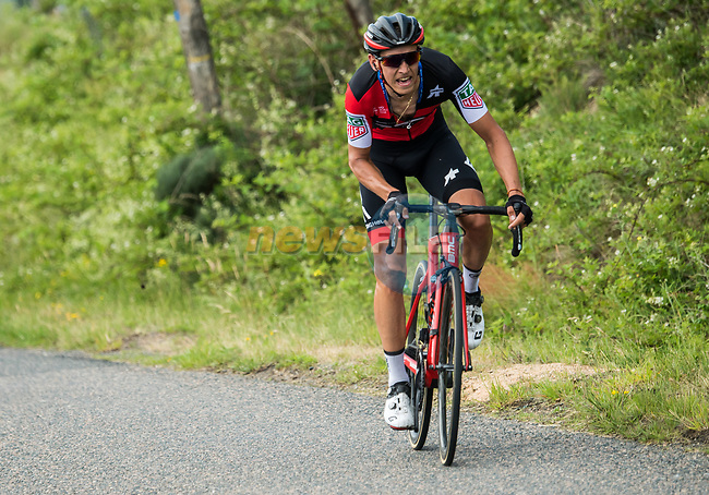 Dylan Teuns (BEL) BMC Racing Team in action during Stage 1 of the 2018 Criterium du Dauphine 2018 running 179km from Valence to Saint-Just-Saint-Rambert, France. 4th June 2018.<br /> Picture: ASO/Alex Broadway | Cyclefile<br /> <br /> <br /> All photos usage must carry mandatory copyright credit (© Cyclefile | ASO/Alex Broadway)