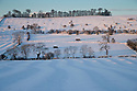 27/12/14<br /> <br /> Fields near Tissington Derbyshire this morning after heavy overnight snowfall.<br /> <br /> All Rights Reserved - F Stop Press. www.fstoppress.com. Tel: +44 (0)1335 300098