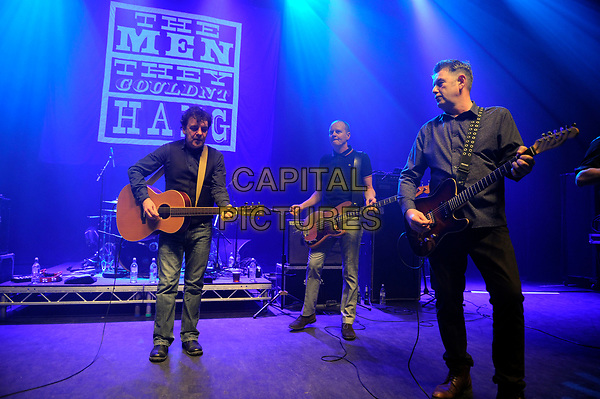 LONDON, ENGLAND - APRIL 15: Phillip Odgers, Ricky McGuire and Stefan Cush of 'The Men They Couldn't Hang' performing at Shepherd's Bush Empire on April 15, 2017 in London, England.<br /> CAP/MAR<br /> &copy;MAR/Capital Pictures