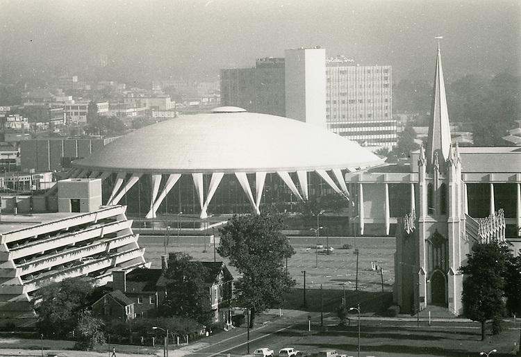 UNDATED..Redevelopment..Downtown North (R-8)..Scope & Chrysler Hall with Freemason Garage in foreground..NEG#..