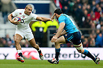 England's Jonathan Joseph hands off Italy's Andrea Masi - RBS 6 Nations - England vs Italy - Twickenham Stadium - London - 14/02/2015 - Pic Charlie Forgham-Bailey/Sportimage