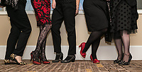 Party high heels were on display at the Nottingham City Business Club annual Christmas lunch