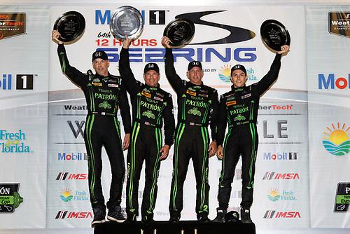 16-19 March, 2016, Sebring, Florida, USA<br /> Overall winners , 2, Honda HPD, Ligier JS P2, P, Scott Sharp, Ed Brown, Joannes van Overbeek, Luis Felipe Derani<br /> ©2016, Michael L. Levitt<br /> LAT Photo USA