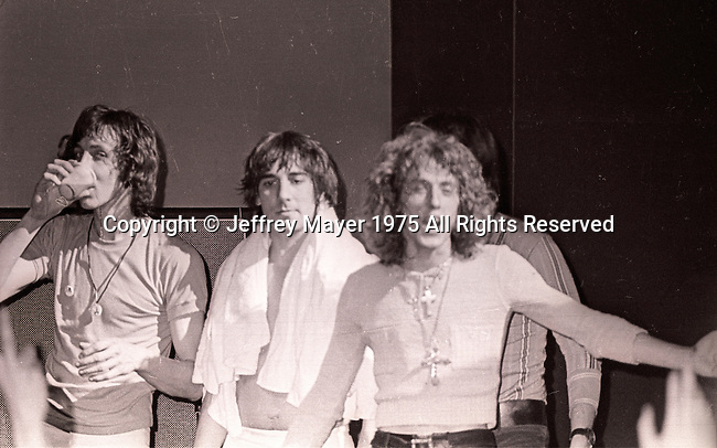 LOS ANGELES, CA - OCTOBER 10: The Who perform in concert at various venues Circa 1970's in Los Angeles, California.