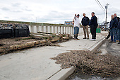 United States President Barack Obama and New Jersey Governor Chris Christie talk with citizens who are recovering from Hurricane Sandy, while surveying storm damage in Brigantine, New Jersey, Wednesday, October 31, 2012. .Mandatory Credit: Pete Souza - White House via CNP