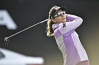 Brittany Lang of the USA on the 1st tee during the Final Round at the Kia Classic,Park Hyatt Aviara Resort, Golf Club &amp; Spa, Carlsbad, California, USA. 3/25/18.<br /> Picture: Golffile | Bruce Sherwood<br /> <br /> <br /> All photo usage must carry mandatory copyright credit (&copy; Golffile | Bruce Sherwood)
