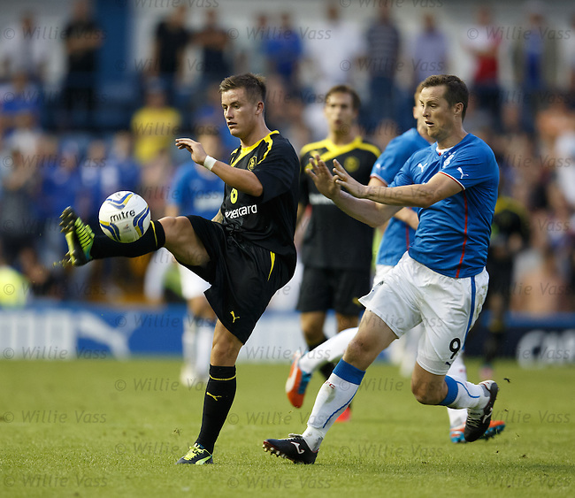 Ex- Ranger Rhys McCabe with Jon Daly