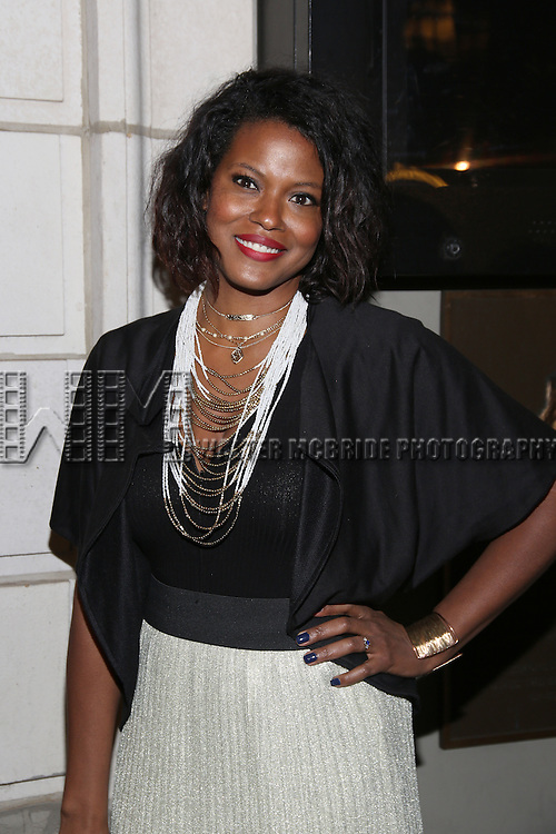 Katori Hall attend the Manhattan Theatre Club's Broadway debut of August Wilson's 'Jitney' at the Samuel J. Friedman Theatre on January 19, 2017 in New York City.