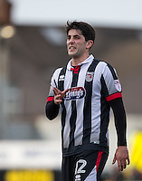 Zak Mills of Grimsby Town during the Sky Bet League 2 match between Grimsby Town and Wycombe Wanderers at Blundell Park, Cleethorpes, England on 4 March 2017. Photo by Andy Rowland / PRiME Media Images.