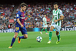 League Santander 2017/2018. Game: 01.<br /> FC Barcelona vs Real Betis: 2-0.<br /> Sergi Roberto vs Guardado.