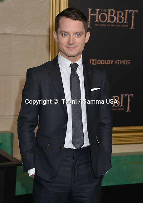 Elijah Wood 081 at the Hobbit Battle of the Five Armies Premiere at the Dolby Theatre in Los Angeles.