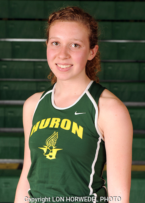 Huron High School girl's track and field, 4-8-13.