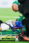 ***BETALBILD***  <br /> Stockholm 2015-09-27 Fotboll Allsvenskan Hammarby IF - AIK :  <br /> Hammarbys Erik Israelsson har skadat sig i samband med sitt 1-0 m&aring;l sedan under matchen mellan Hammarby IF och AIK <br /> (Foto: Kenta J&ouml;nsson) Nyckelord:  Fotboll Allsvenskan Tele2 Arena Hammarby HIF Bajen AIK Derby skada skadan ont sm&auml;rta injury pain