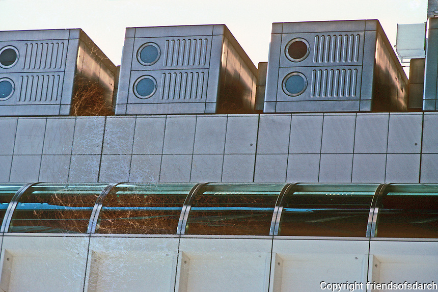 Osaka: Sony Towers--modules. Kisho Kurokawa, architect. Photo '82.