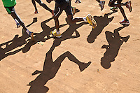 Athletes pound the dirt tracks outside of Iten, the Kenyan town perched 8,000ft above sea level on the edge of the Rift Valley escarpment that has become the Mecca of high-altitude endurance training for the world's best long-distance runners. Few of these amateurs have access to professional facilities, yet the town hosts many of the fastest men and women over marathon, half-marathon and 10,000m distances.