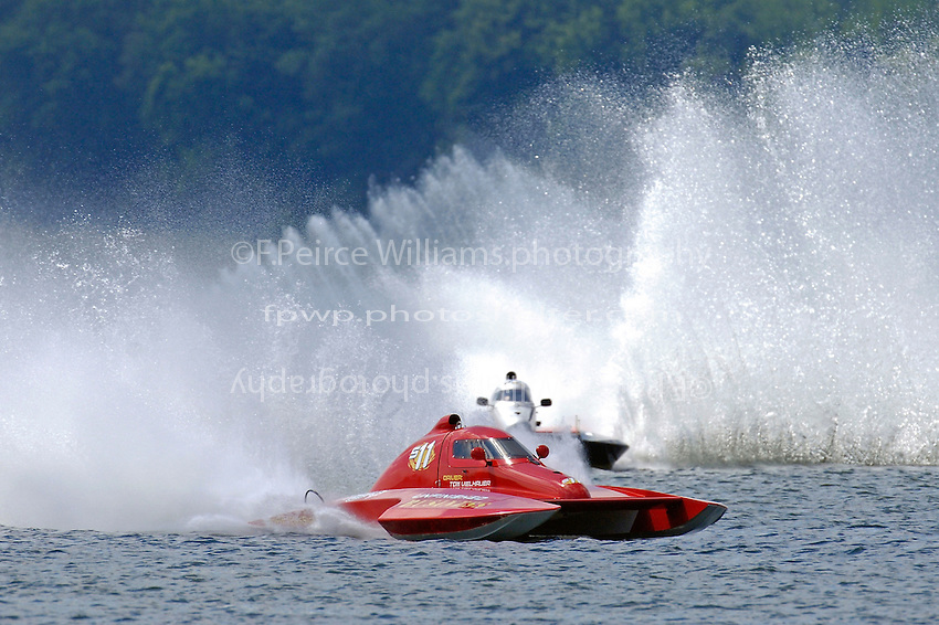 """Tom Vielhauer, S-11 """"Unfinished Business"""" and John Shaw, S-53 (2.5 Litre Stock hydroplane(s)"""