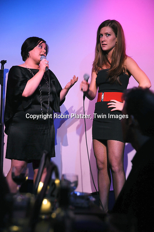 """One Life to Live actresses Kathy Brier and  BethAnn Bonner singing..at The """"Kathy Brier and Friends"""" concert at The Metropolitan Room in New York City benefitting the Eos ..Theatre Company on May 16, 2008.....Robin Platzer, Twin Images"""