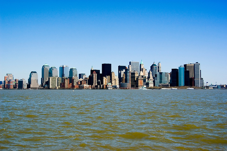 New York City, New York: Skyline of New York lower manhattan post 9-11.  .Photo #: ny216-14650  .Photo copyright Lee Foster, www.fostertravel.com, lee@fostertravel.com, 510-549-2202.