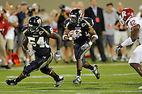 11 September 2010:  FIU running back Jeremiah Harden (6) carries the ball in the first quarter as the Rutgers Scarlet Knights defeated the FIU Golden Panthers, 19-14, at FIU Stadium in Miami, Florida.