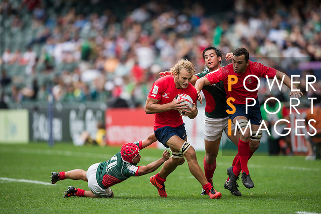 Chile v Mexico during the HK Rugby Sevens 2016 on 08 April 2016 at Hong Kong Football Club in Hong Kong, China. Photo by Li Man Yuen / Power Sport Images