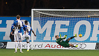 Ellis Harrison of Bristol Rovers    scores a late penalty to put his team ahead during the Sky Bet League 2 match between Oxford United and Bristol Rovers at the Kassam Stadium, Oxford, England on 17 January 2016. Photo by Andy Rowland / PRiME Media Images.