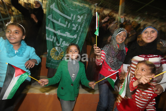 A religious eulogy band perform during islamic celebration of the upcoming Eid al-Adha fetival in Gaza City on November 4, 2011. Photo by Majdi Fathi
