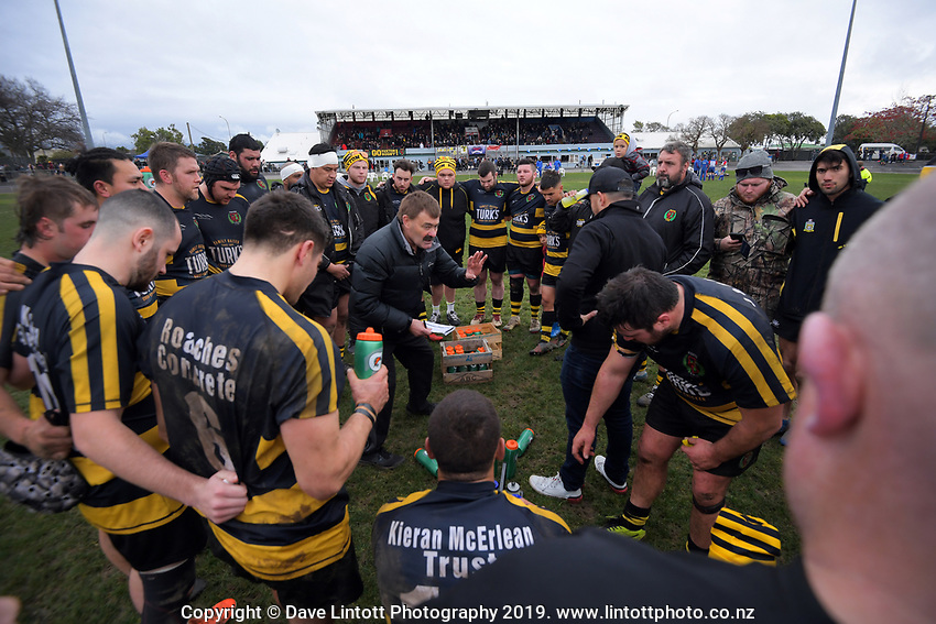 Action from the 2019 Horowhenua-Kapiti premier club rugby Ramsbottom Cup final between Foxton and Waikanae at Levin Domain in Levin, New Zealand on Saturday, 20 July 2019. Photo: Dave Lintott / lintottphoto.co.nz