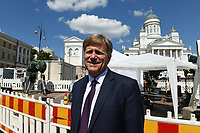 The former US Ambassador to Russia Michael McFaul watches the Helsinki Calling peace march in Senate Square a day ahead of the summit between US President Donald Trump and Russian President Vladimir Putin in Helsinki, Finland on July 15, 2018.  McFaul is in Helsinki with NBC News.