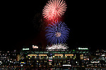 9 July 2010:  Fireworks are displayed over Citizens Bank Park after the game between the Cincinnati Reds and the Philadelphia Phillies on July 9, 2010. The Phillies won  9-7 in the 10th inning at Citizens Bank Park in Philadelphia, Pennsylvania.