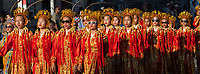 Chinese Girls Drill Team, Chinatown Seafair Parade 2015, Seattle, Washington State, WA, America, USA.