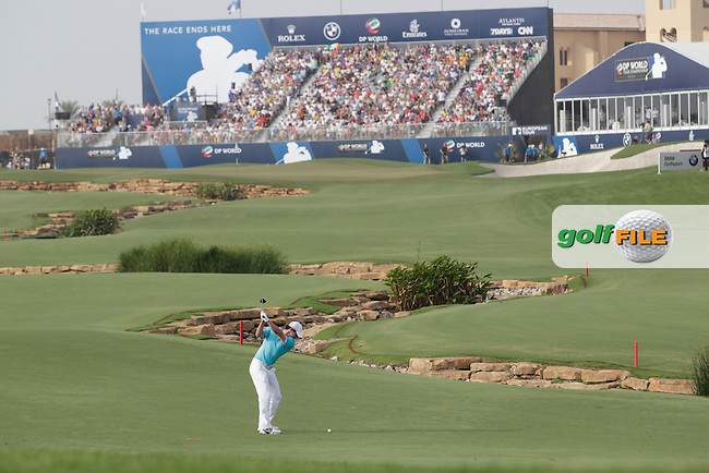 Rory McIlroy (NIR) during round 4 of the DP World, Tour Championship, Dubai, UAE.<br /> Picture: Fran Caffrey www.golffile.ie