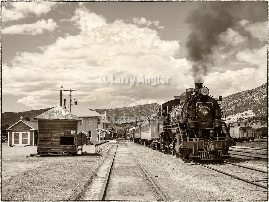 No. 93 ready to leave the yards of the Nevada Northern Railway, East Ely, Nev.