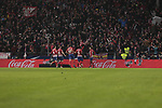 Atletico de Madrid's players celebrate goal during La Liga match between Atletico de Madrid and RCD Espanyol at Wanda Metropolitano Stadium in Madrid, Spain. December 22, 2018. (ALTERPHOTOS/A. Perez Meca)