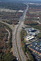 Rt. 128 & Rt. 95 intersection aerial, Norwood, MA