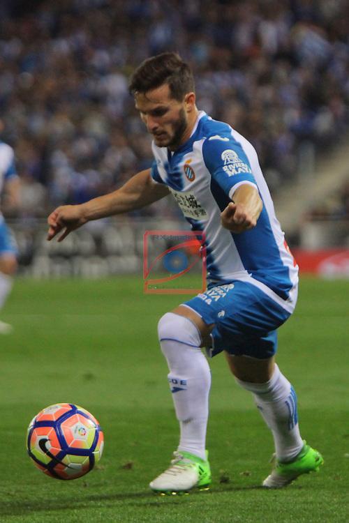 League Santander 2016/2017. Game: 35.<br /> RCD Espanyol vs FC Barcelona: 0-3.<br /> Pablo Piatti.