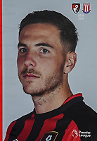 Dan Gosling of AFC Bournemouth on the front of the match day programme during AFC Bournemouth vs Stoke City, Premier League Football at the Vitality Stadium on 3rd February 2018