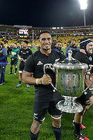 All Blacks' Jerome Kaino. All Blacks v Wallabies. The Rugby Championship &amp; Bledisloe Cup at Westpac Stadium, Wellington, New Zealand on Saturday 27 August 2016.<br /> Photo by Masanori Udagawa. <br /> www.photowellington.photoshelter.com.